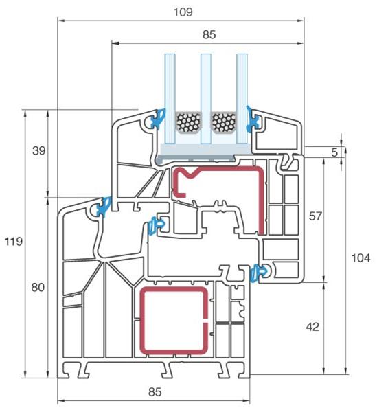 Aluplast ideal 8000 for Aluplast fenster